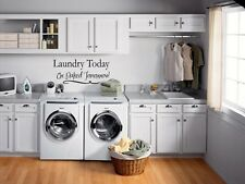 LAUNDRY TODAY OR NAKED Wall Lettering Words Quotes Decal Sticker Vinyl Saying