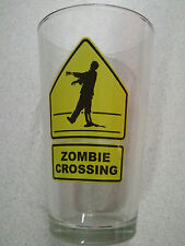 ZOMBIE CROSSING 16 ounce Glass