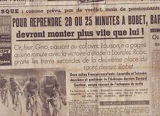 journal  l'équipe  du 08/07/48 CYCLISME TOUR DE FRANCE 1948 BARTALI ROBIC
