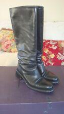 Prada Classic Black Leather riding boots Ladies 39