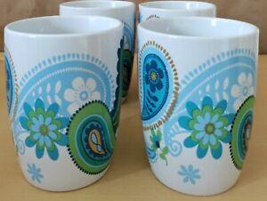 Royal Norfolk Paisley Print Stoneware Mugs, 12 oz Set Of (4)