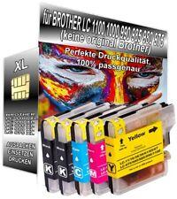 5 Patronen XXL für Brother LC1100 DCP-185C DCP-385C DCP-395CN MFC-490CW 795CW