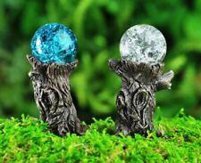 Miniature Fairy Garden Tree Stump Gazing Ball Picks - Set of 2 - Buy 3 Save $5