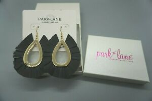 NEW Park Lane Jewelry Palmer Earrings Vegan Leather Fringe Hoop SOLD OUT/RETIRED