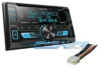 KENWOOD DOUBLE DIN CAR STEREO RADIO W/ INSTALL PARTS & SIRIUS XM & USB/AUX INPUT