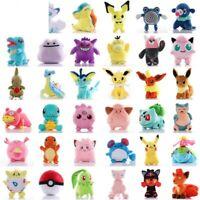 Pokemon Toy Pikachu Bulbasaur Charmander Squirtle Plush Stuffed Animal Hobby New