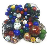 Mega Half Pound of Rounds Glass Marbles | 4 Nets for a Total of 2 Pounds