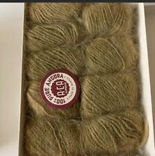 Vintage Aca Supreme 100% Pure Angora Rabbit Hair Yarn France 8 Ball Color- Kaki