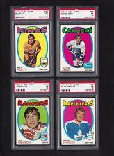 1971 OPC 4 Card PSA Lot #47 Flett  #198 Spencer RC #58 Maki #112 Neilson 1971-72