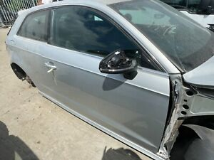 AUDI A3 8V S LINE 3DR RIGHT DRIVER SIDE FRONT DOOR PANEL O/S/F CODE LX7W