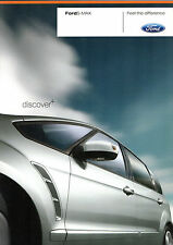 Ford S-Max 2007-08 UK Market sales brochure Edge Zetec Titane
