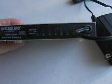 BLACK BOX 8-PORT PALM SIZE FAST ETHERNET SWITCH HUB 724-746-5500 w/power uplink