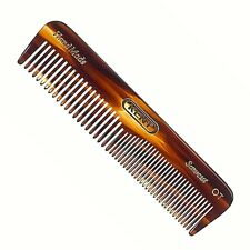 MEN'S 112MM COARSE AND FINE TOOTHED POCKET HAIR COMB KENT BRUSHES HANDMADE