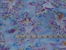 Fairies Fairy Fabric 100% cotton, Metallic silver Timeless Treasures CM 8596