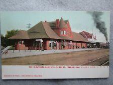 Antique Southern Pacific Railroad Depot, Fresno, California Udb Photo Postcard