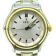 EBEL 1911 Stainless Steel/18k Yellow Gold Quartz Lady`s Watch 39 mm