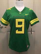 NWT Women's Small Nike Oregon Ducks Apple Green #9 Jersey (H)