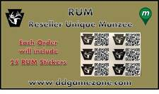 25 Munzee RUM (Reseller Unique Munzee) from D&D Sports