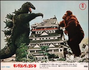 King Kong vs Godzilla Japanese Original Movie Lobby Card TOHO 1977 Japan #1 Rare
