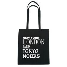 New York, London, Paris, Tokyo Moers - Borsa di iuta Borsa - colore: Nero