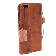 Genuine Vintage Leather Case for Apple iPhone 6S Plus Book Wallet Cover Davis