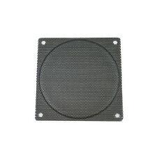 140mm Small Hole Size Steel Mesh Black Fan Filter