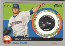 2017 Heritage Minors 1968 Mint Coin Gray Grey Relic #AP A.J. Puk Athletics 25/25
