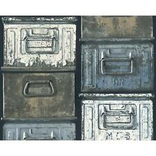 As Creation Metal Caja Mural Papel Pintado Vintage realista efecto CON TEXTURA