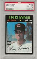 SET BREAK -1971 TOPPS # 727 RAY LAMB, PSA 8 NM-MT, HIGH #, SHORT PRINT , L@@K