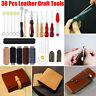 UK Leather Craft Punch Tools Kit Stitching Carving Working Sewing Saddle Groover