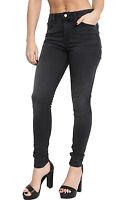 Womens Ladies Charcoal Grey Ex High Street Skinny Jeggings, Skinny Size 6 - 22