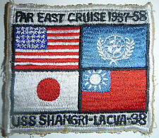 Patch - US AIRCRAFT CARRIER SHANGRI-LA - 1957 - 1958 - FAR EAST CRUISE - 8657