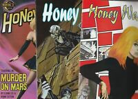 HONEY WEST 3 COMICS ALL  FPLUS TO  NM  MOONSTONE