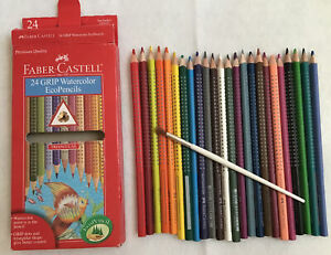 Faber Castell 24 Grip Watercolor Eco Pencils
