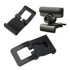 New Black TV Clip for Sony PS3 Move Eye Camera Mount Holder Stand Adjustable FA