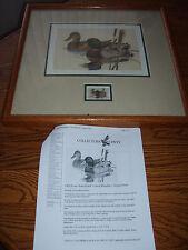 An Original by Larry Hayden, Artist - Mallard Ducks Stamp Print (Signed)