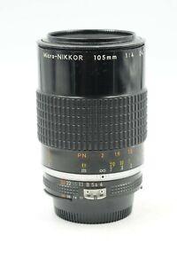 Nikon Nikkor AI-S 105mm F4 Micro Lens 105/4 AIS #901