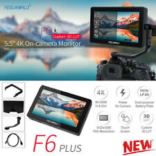 "Black FEELWORLD F6 PLUS 5.5 "" IPS Touch Screen Monitor Video DSLR Camera Monitor"