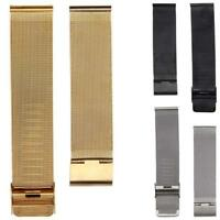 Unisex Simple Fashion New Milanese Stainless Steel 20mm Wrist Watch Band Strap