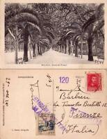 GUERRA CIVIL ESPAÑOLA - RARA CARTOLINA DA MALAGA - 1938 - CENSURA MILITARE