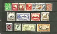 1935 New Zealand Pictorials, Full Set SG 556/69, FU