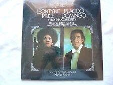 Leontyne Price / Placido Domingo: - Verdi & Puccinl Duets - LP Album Mint/Never
