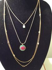Betsey Johnson Ocean Drive Pink Lips Long Multi Strand Necklace $55  BE3
