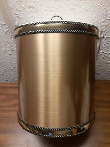 Vintage Georges Briard Gold Ice Bucket with Lucite Handle