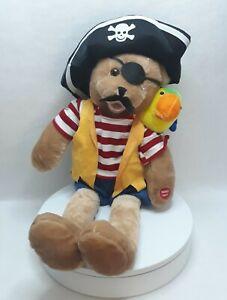 CHANTILLY LANE Singing Pirate Bear & Parrot Musical Duet Cap'n Salty & Pepper