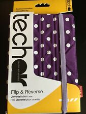 Techair Flip And Reverse Universe Tablet Case Polka Dot Purple And White Dots
