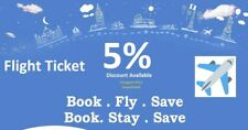 5% Flight Discount Voucher for Booking any Flight Ticket - by Caftop Travels