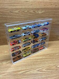 24 Hot Wheels wall display .wall Display Case Stand, with Door