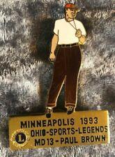 Lions Club Lapel Pin Multiple District MD13 Ohio Sports Legends Paul Brown 1993