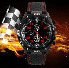 Men Childrens Kid Boys Analogue Sport Spare Adult F1 GT Smart Watch Black Red UK